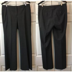 J. Crew City Fit Wool Blend Charcoal Pants